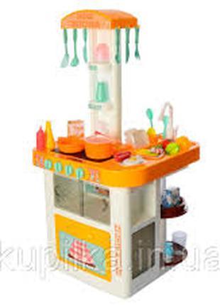 Детская большая игровая кухня с водой 889-60 оранжевая, 40 предме