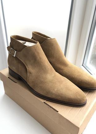 Замшевые полуботинки zara man leather boots !