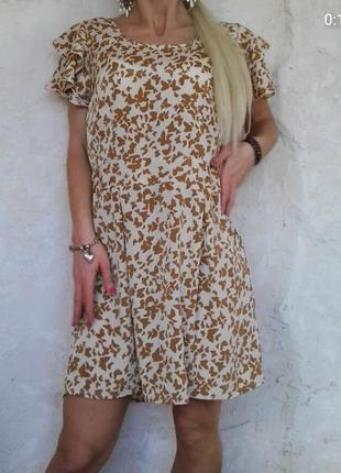 Воздушное платье принт бабочки