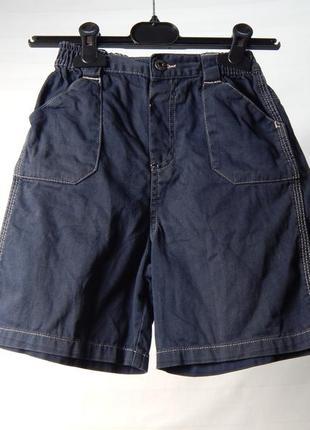 Тонкие темно синие джинсовые шорты