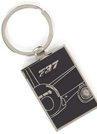 Брелок Boeing 737 Midnight Silver Keychain