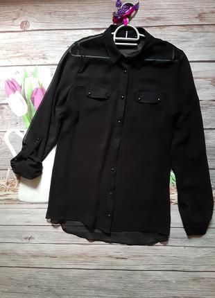 Рубашка шифоновая свободного кроя