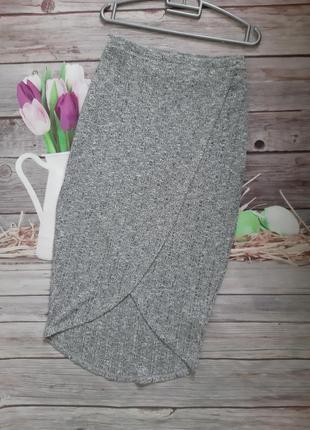 Стильная юбка миди на запах