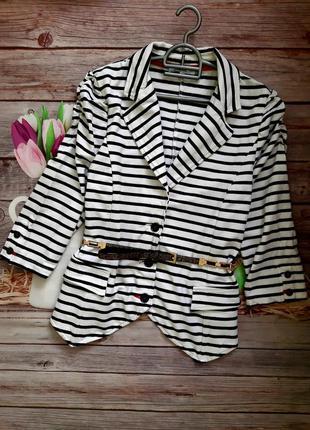 Стильный модный пиджак трикотажный