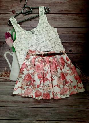 Стильная модная юбка с карманами