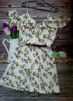 Стильный сарафан платье шифоновое