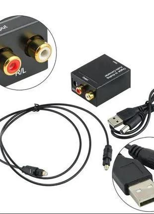 ЦАП конвертер для подключения телевизора к усилителю Dac Toslink