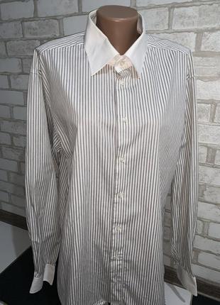 Крутая классическая рубашка в полоску бренд brubaker