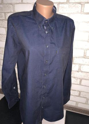 Брендовая классическая рубашка bison  размер м