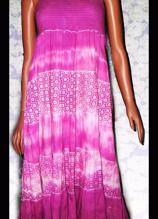 Нежно фиолетовая, хлопковая юбка, платье трансформер, градиент