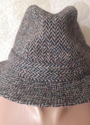 Шерстяная  шляпа из твида  harris tweed