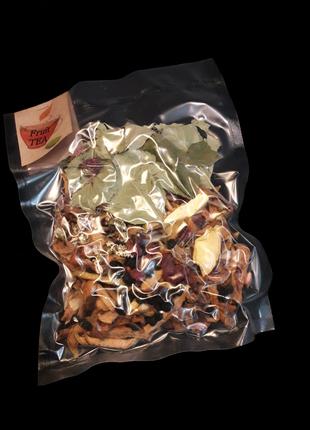 Фруктовый чай в прозрачной вакуумной упаковке