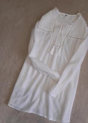 Блузка с шитьём хлопок,вискоза размер 10-12 mango
