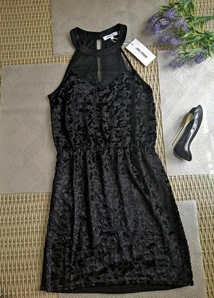 Вечернее платье черное сексуальное бархатное велюровое новое с...