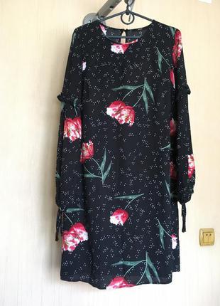 Платье вискоза в цветочный принт