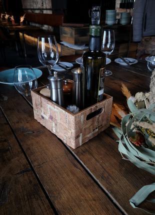 Ящик органайзер для специй, бокалов, вина, стаканов