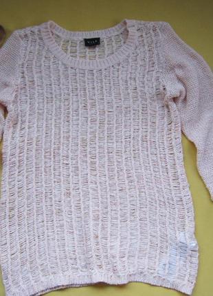 Красивый ажурный свитер,кофточка,джемпер,р.м,vila clothes,банг...