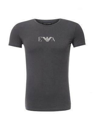 Брендовая футболка emporio armany темно-синего цвета