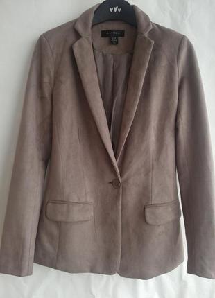 Пиджак из искусственной замши amisu