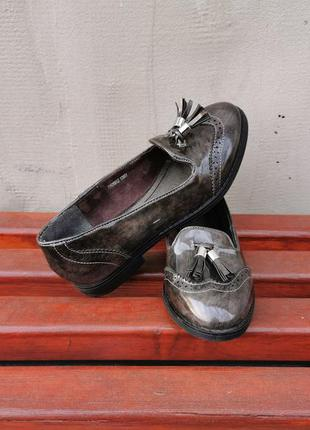 Туфли мокасины лоферы балетки merry scott 38 р.