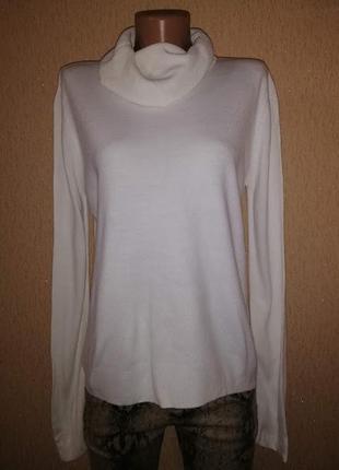 Стильный женский белый гольф, кофта, джемпер, свитер 14 р. tu