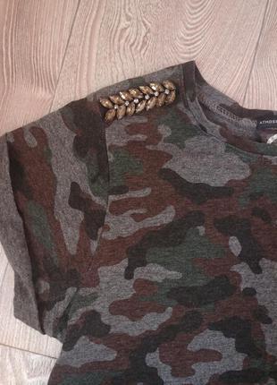 Очень крутая футболка милитари