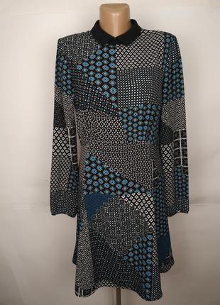 Платье модное в орнамент marks&spencer uk 12/40/m