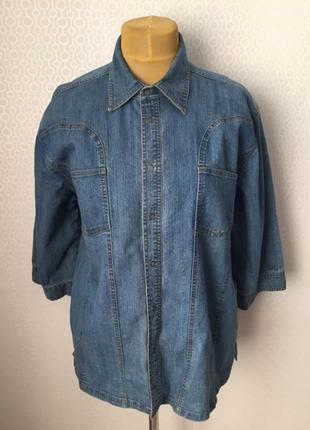 Классная джинсовая рубашка от добротного бренда cecil, размер ...