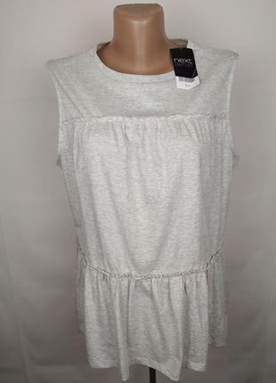 Блуза новая красивая хлопковая с рюшами next uk 16/44/xl