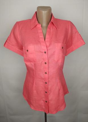 Блуза рубашка новая льняная красивая 100% лён! marks&spencer u...