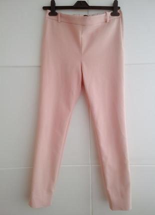 Брюки zara нежно-розового цвета