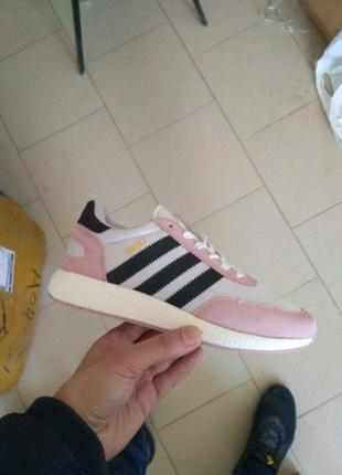 Adidas iniki runner pink core black/white 🔺женские кроссовки
