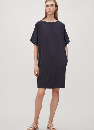 Платье футболка cos с шелковыми рукавами