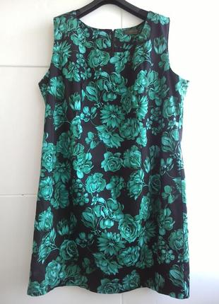Красивое платье черного цвета с принтом зеленых цветов bonprix
