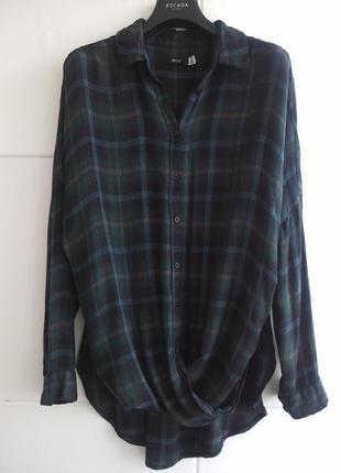 Оригинальная рубашка с красивым клетчатым орнаментом h&m