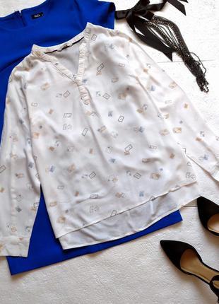 Нежная белая блуза clockhouse, рубашка из натуральной ткани