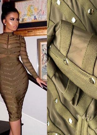 Шикарное нарядное платье herve leger xs