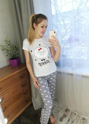Пижамки, (s, l, xl), женская пижама, домашняя одежда #розванта...