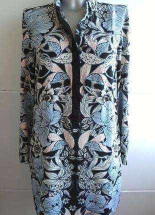 Платье  warehouse рубашечного кроя с принтом красивых цветов и...