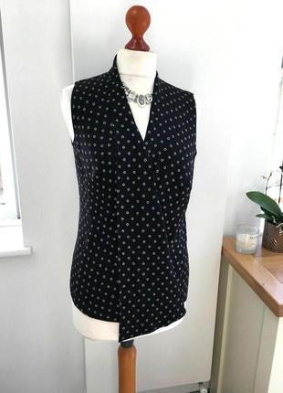 """Шелковая блузка английского бренда jaeger с воротником """"шаль"""",..."""