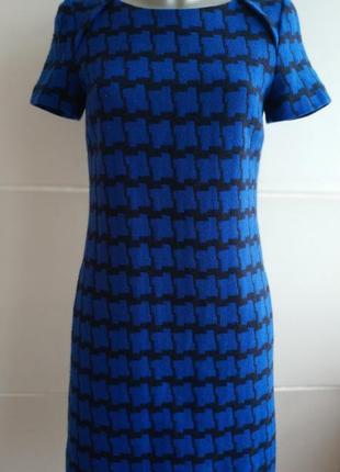 Платье от hobbs  красивого синего цвета с боковыми карманами