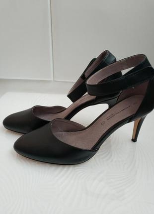 Черные кожаные туфли next на каблуке-шпильке