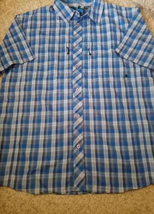 Качественная рубашка в клетку 46 nord original интересное соче...