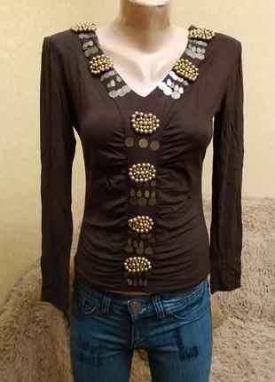 Нарядный свитерок, кофточка, блуза  с отделкой
