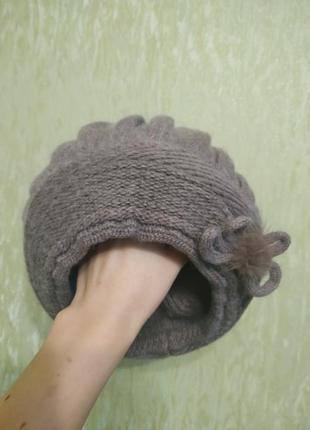 Утепленная женская шапка-берет