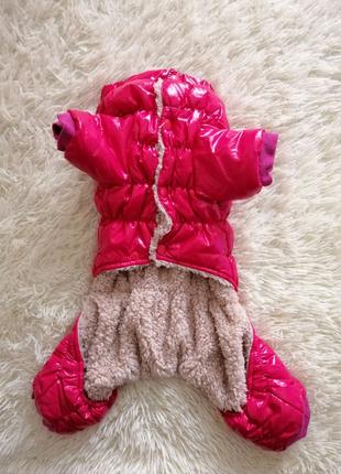 Зимний меховой комбинезон для кошечки или собачки