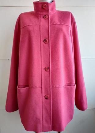Шикарное шерстяное пальто marks&spencer розового цвета