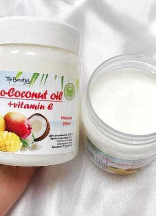 """Ароматизированное кокосовое масло для волос и тела """"манго"""" top..."""