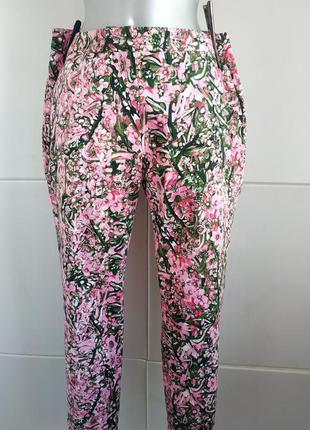Стильные брюки h&m из качественного натурального материала с я...