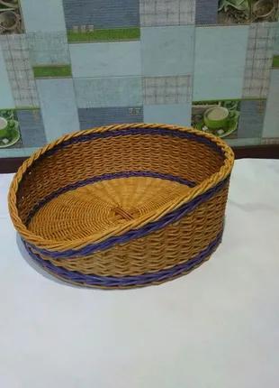 Лежак для собак и котов плетеный